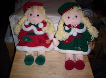 CHRISTMAS SET OF MATCHING CLOTH DOLLS in Camp Lejeune, North Carolina