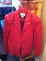 Red Leather Jacket in Fort Campbell, Kentucky