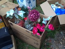 box of fake flowers in Eglin AFB, Florida