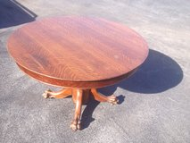 Qtr Sawn Oak Pedestal Table Claw Feet in Cherry Point, North Carolina