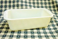 VINTAGE PYREX #213 OPAL WHITE LOAF PAN 1-1/2 QT in Aurora, Illinois
